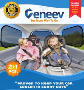 1. Car Sun Shade for Side and Rear Window 3-Pack
