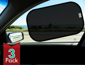 2. Car Sun Shade 3-Pack with 80 GSM for Maximum UV Protection