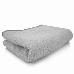 3. Chemical Guys Waffle Weave Gray Matter Microfiber Drying Towel