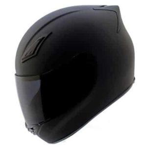 9. Duke Matte Black Full Face Motorcycle Helmet