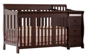 1. Stork Craft Portofino 4-in-1 Fixed Side Convertible Crib and Changer