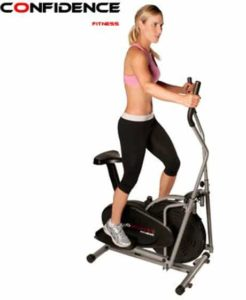 10. Confidence Fitness 2-in-1 Elliptical Trainer with Seat