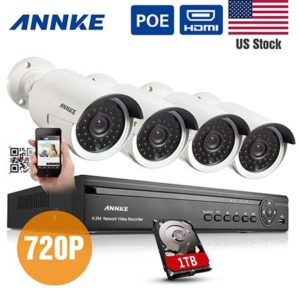 2. Annke 4CH 720P HD POE NVR Security Camera System