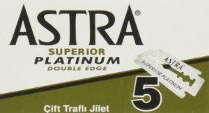 2. Astra Platinum Double Edge Safety Razor Blades
