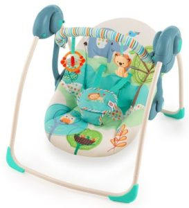 2. Bright Starts Playful Pals Portable Swing