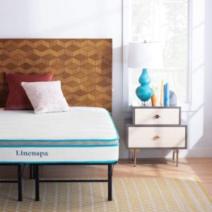 2. Linenspa Memory Foam and Innerspring Hybrid Mattress