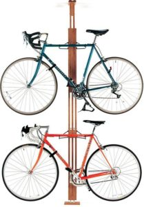 4. Gear Up Oak Rak Floor to Ceiling Bike Rack