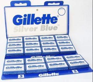 4. Gillette Silver Blue Double Edge Razor Blades