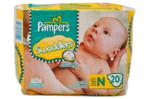 4. Pampers Swaddlers Newborn Diapers
