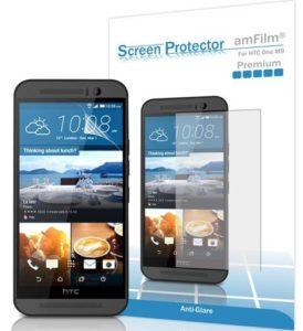 4. amFilm Premium Anti-Glare and Anti-Fingerprint (Matte) Screen Protector for HTC One M9