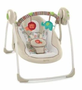 6. Comfort & Harmony Cozy Kingdom Portable Swing