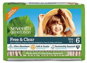 7. Seventh Generation Free and Clear Unbleached Baby Diapers