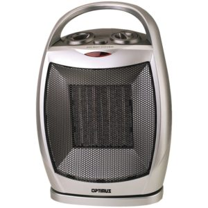 Optimus H 7247 Portable Oscillating Ceramic Heater With Thermostat