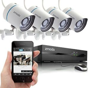 8. Zmodo 4CH 720P PoE NVR HD Security Camera System