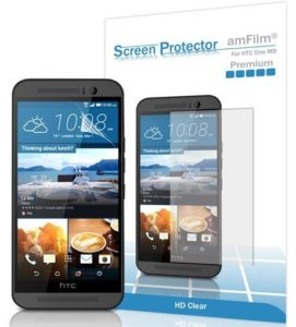 8. amFilm HTC One M9 Screen Protector