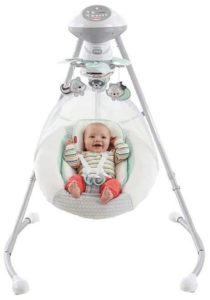 9. Fisher-Price Moonlight Meadow Deluxe Cradle 'n Swing