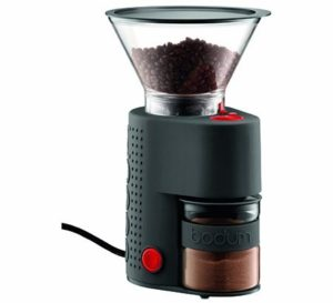 10. Bodum Bistro Electric Burr Coffee Grinder