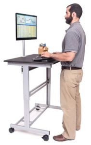 10. Stand Up Desk Store 40 Inch Mobile Adjustable Stand Up Desk