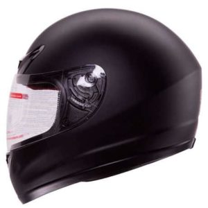 3. IV2 Matte Flat Black Full Face Motorcycle Helmet DOT