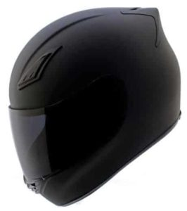 5. Duke Matte Black Full Face Motorcycle Helmet