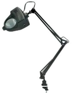 6. Alvin Magnifier Swing-arm Lamp Black