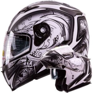 8. IV2 Dual Visor Modular Flip Up Helmet