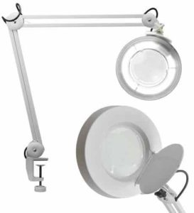 9. Pro Magnify Professional 2-in-1 Spring-Arm Magnifier Lamp