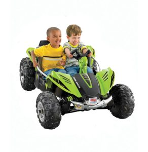 the top electric car for kids is this dune racer from power wheels it features a durable traction system so that your kid can ride on nearly any surface