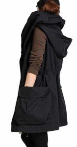 1. Mordenmiss Women's Sleeveless Coat Spring Waistcoat Vest Hoodie