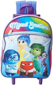 2. Disney Girls' Inside Out 12 Inch Rolling Backpack