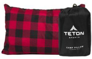 4. TETON Sports Camp Pillow with Pillow Case
