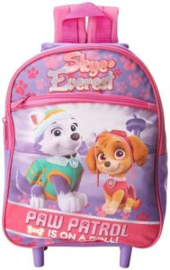 5. Nickelodeon Girl's Paw Patrol Rolling Backpack
