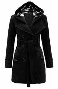 5. Noroze Womens Check Hood Coat