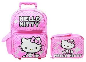 6. Hello Kitty 16 Large Rolling Backpack