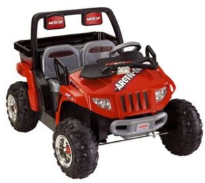 7. Fisher-Price Power Wheels Red Arctic Cat Ride On