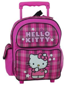8. Hello Kitty Toddler 12 Rolling Backpack