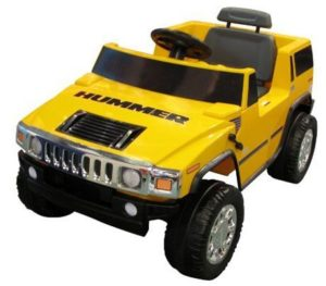 8. National Products 6V Yellow Hummer H2