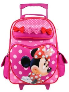 9. Minnie Mouse Perfect Bows 16 Rolling Backpack