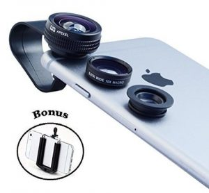 10. Aplexel 3-in-1 Clip-On Lens