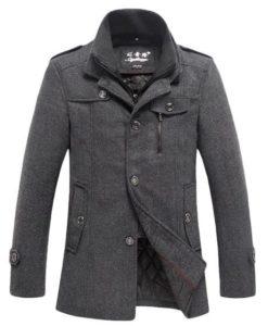 10. Wantdo Men's Winter Wool Blend Pea Coats