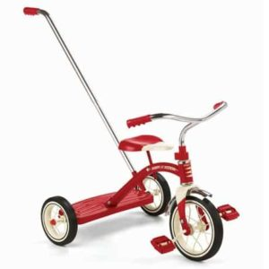 2. Radio Flyer Classic Tricycle with Push Handle