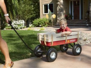 3. Big Roc Tools Wagon With Wooden Sides