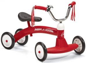 3. Radio Flyer 20 Scoot-About Tricycle