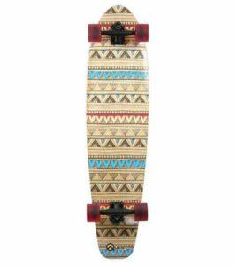 4. Quest Native Spirit Kick Tail Longboard Skateboard