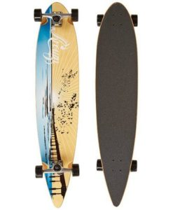 5. Krown Wood Sunset Complete Longboard Skateboard