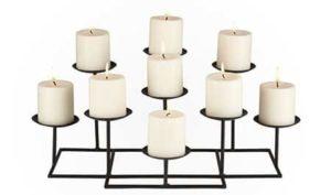 6. SEI 9-Candle Metal Candelabra