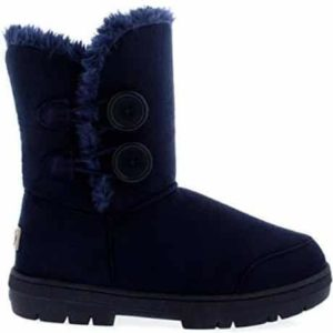6. Womens Twin Button Fully Fur Lined Waterproof Winter Snow Boots