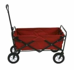 8. Kids Red Wagon Pull Along Outdoor Folding Utility Cart