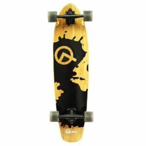 8. Quest Rorshack Bamboo Longboard Skateboard