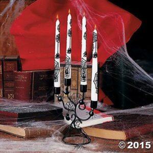 9. Halloween Black Spiderweb Candelabra